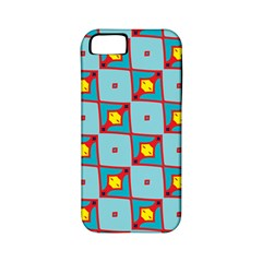 Shapes In Squares Pattern                                                                                                           			apple Iphone 5 Classic Hardshell Case (pc+silicone) by LalyLauraFLM