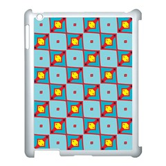 Shapes In Squares Pattern                                                                                                           			apple Ipad 3/4 Case (white) by LalyLauraFLM