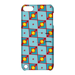 Shapes In Squares Pattern                                                                                                           			apple Ipod Touch 5 Hardshell Case With Stand by LalyLauraFLM