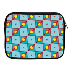 Shapes In Squares Pattern                                                                                                           			apple Ipad 2/3/4 Zipper Case by LalyLauraFLM