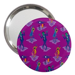 Zombie Pattern 3  Handbag Mirrors