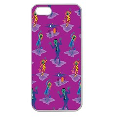 Zombie Pattern Apple Seamless Iphone 5 Case (clear) by AnjaniArt