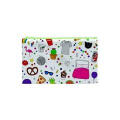 Animals Fruite Cake Lip Pattern Cosmetic Bag (xs) by AnjaniArt