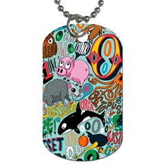Alphabet Patterns Dog Tag (two Sides)