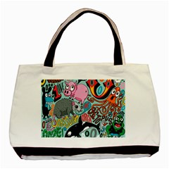 Alphabet Patterns Basic Tote Bag (two Sides) by AnjaniArt