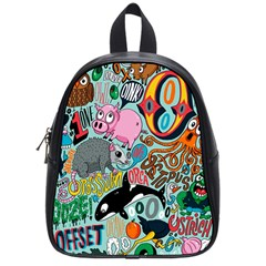 Alphabet Patterns School Bags (small)  by AnjaniArt