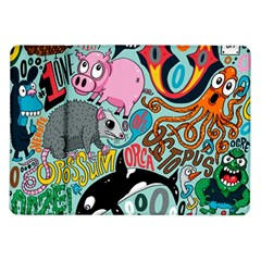 Alphabet Patterns Samsung Galaxy Tab 10 1  P7500 Flip Case by AnjaniArt