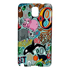Alphabet Patterns Samsung Galaxy Note 3 N9005 Hardshell Case by AnjaniArt
