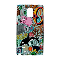 Alphabet Patterns Samsung Galaxy Note 4 Hardshell Case by AnjaniArt