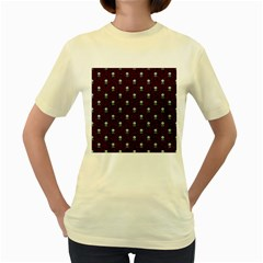 Bloody Cute Zombie Women s Yellow T Shirt