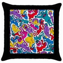 Animation Animated Cartoon Pattern Throw Pillow Case (black) by AnjaniArt