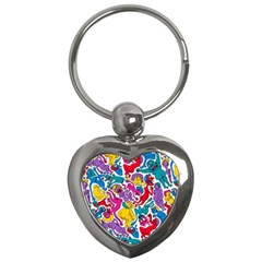 Animation Animated Cartoon Pattern Key Chains (heart)  by AnjaniArt