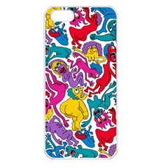 Animation Animated Cartoon Pattern Apple Iphone 5 Seamless Case (white) by AnjaniArt
