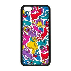 Animation Animated Cartoon Pattern Apple Iphone 5c Seamless Case (black)