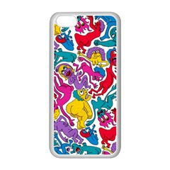 Animation Animated Cartoon Pattern Apple Iphone 5c Seamless Case (white)