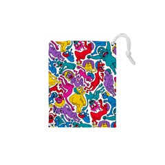 Animation Animated Cartoon Pattern Drawstring Pouches (xs)  by AnjaniArt