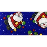 Blue Santas Clause ENGAGED 3D Greeting Card (8x4) Back