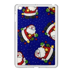 Blue Santas Clause Apple Ipad Mini Case (white)