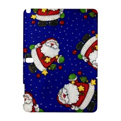 Blue Santas Clause Samsung Galaxy Note 10 1 (p600) Hardshell Case by AnjaniArt