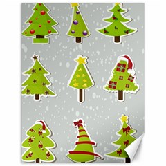 Christmas Elements Stickers Canvas 12  X 16