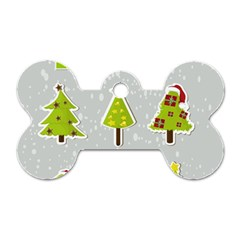 Christmas Elements Stickers Dog Tag Bone (one Side) by AnjaniArt