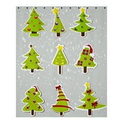 Christmas Elements Stickers Shower Curtain 60  X 72  (medium)  by AnjaniArt