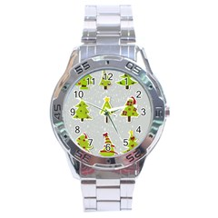 Christmas Elements Stickers Stainless Steel Analogue Watch