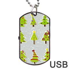 Christmas Elements Stickers Dog Tag Usb Flash (two Sides)  by AnjaniArt