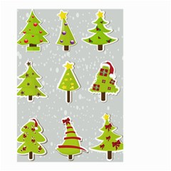 Christmas Elements Stickers Small Garden Flag (two Sides) by AnjaniArt