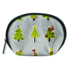 Christmas Elements Stickers Accessory Pouches (medium)