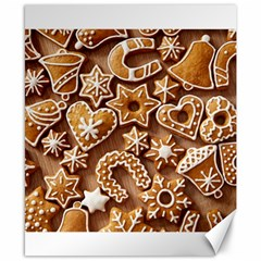 Christmas Cookies Bread Canvas 8  X 10