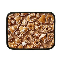 Christmas Cookies Bread Netbook Case (small)  by AnjaniArt