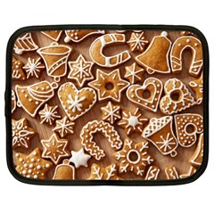 Christmas Cookies Bread Netbook Case (xl)  by AnjaniArt