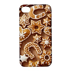 Christmas Cookies Bread Apple Iphone 4/4s Hardshell Case With Stand