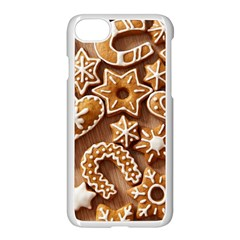 Christmas Cookies Bread Apple Iphone 7 Seamless Case (white)