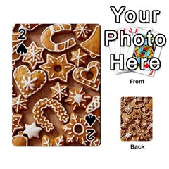 Christmas Cookies Bread Playing Cards 54 Designs  by AnjaniArt