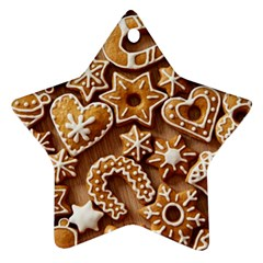 Christmas Cookies Bread Star Ornament (two Sides)