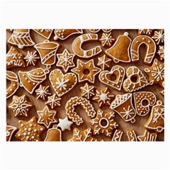 Christmas Cookies Bread Large Glasses Cloth