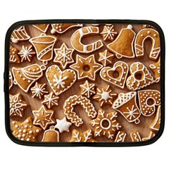 Christmas Cookies Bread Netbook Case (large) by AnjaniArt