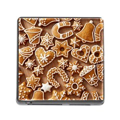 Christmas Cookies Bread Memory Card Reader (square)