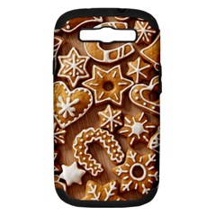 Christmas Cookies Bread Samsung Galaxy S Iii Hardshell Case (pc+silicone) by AnjaniArt