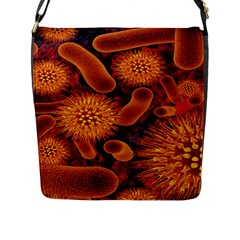 Chemical Biology Bacteria Bacterium Flap Messenger Bag (l)  by AnjaniArt