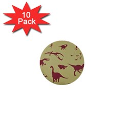 Dinosourus 1  Mini Buttons (10 Pack)
