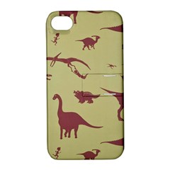 Dinosourus Apple Iphone 4/4s Hardshell Case With Stand by AnjaniArt