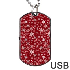 Christmas Day Dog Tag Usb Flash (two Sides)