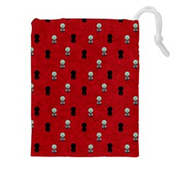 Cute Zombie Pattern Drawstring Pouches (xxl)