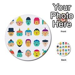 Face People Man Girl Male Female Young Old Kit Multi Purpose Cards (round)  by AnjaniArt