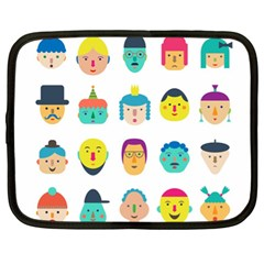 Face People Man Girl Male Female Young Old Kit Netbook Case (xl)  by AnjaniArt