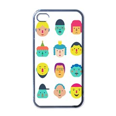 Face People Man Girl Male Female Young Old Kit Apple Iphone 4 Case (black) by AnjaniArt