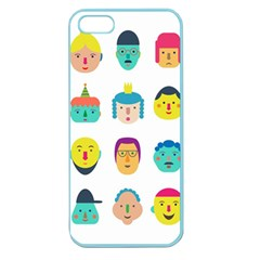 Face People Man Girl Male Female Young Old Kit Apple Seamless Iphone 5 Case (color) by AnjaniArt